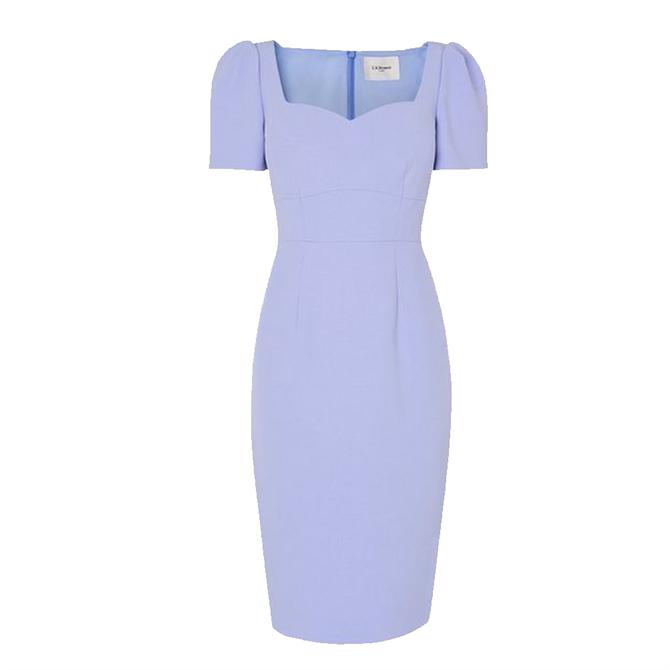 L.K. Bennett Dee Pale Blue Crepe Shift Dress
