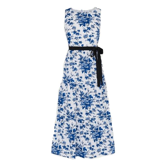 L.K. Bennett Hodgkin Toile De Jouy Print Cotton Dress