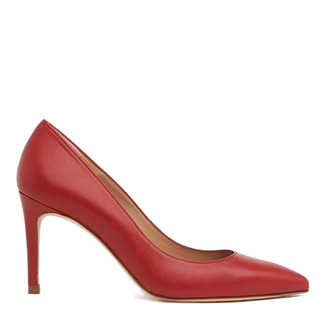 L.K. Bennett Floret Roca Red Leather Courts
