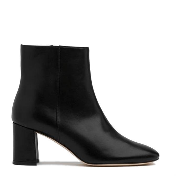 L.K. Bennett Jette Black Leather Ankle Boots