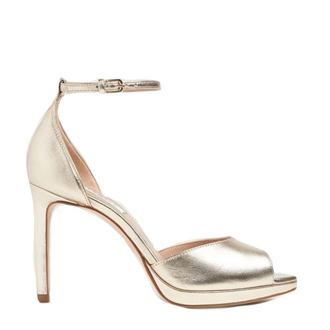 L.K. Bennett Joyce Soft Gold Metallic Leather Sandals