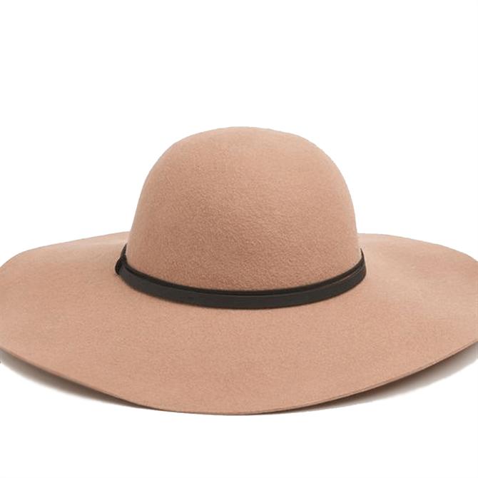 L.K. Bennett Kendall Camel Fabric Hat
