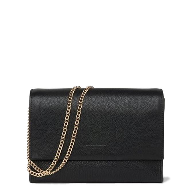 L.K. Bennett Marcella Black Leather Shoulder Bag