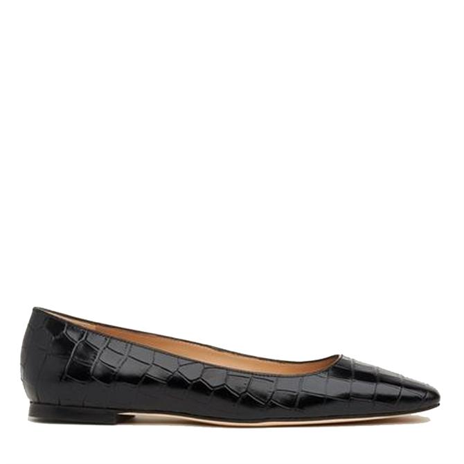 L.K. Bennett Phyllis Suede & Croc Effect Leather Flats