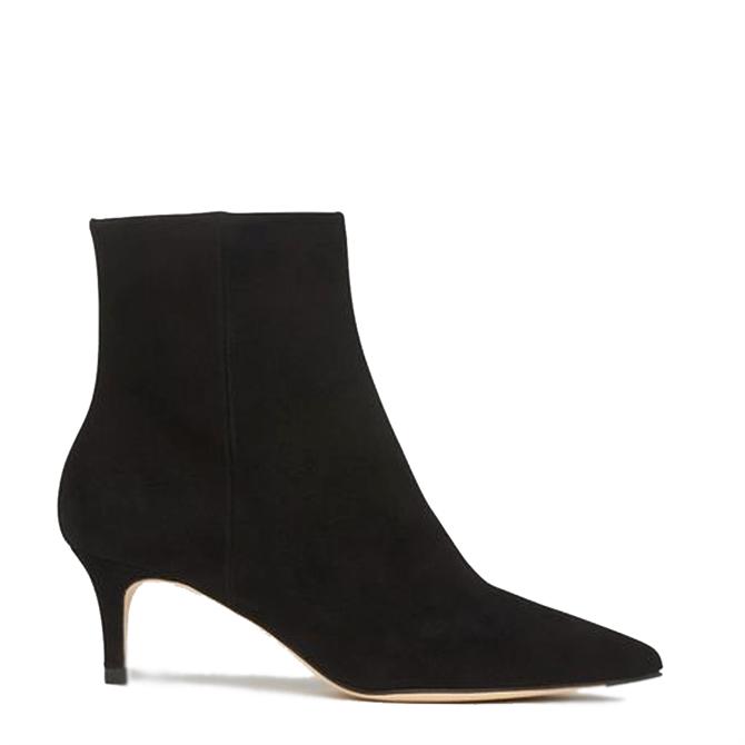 L.K. Bennett Tamara Black Suede Ankle Boots