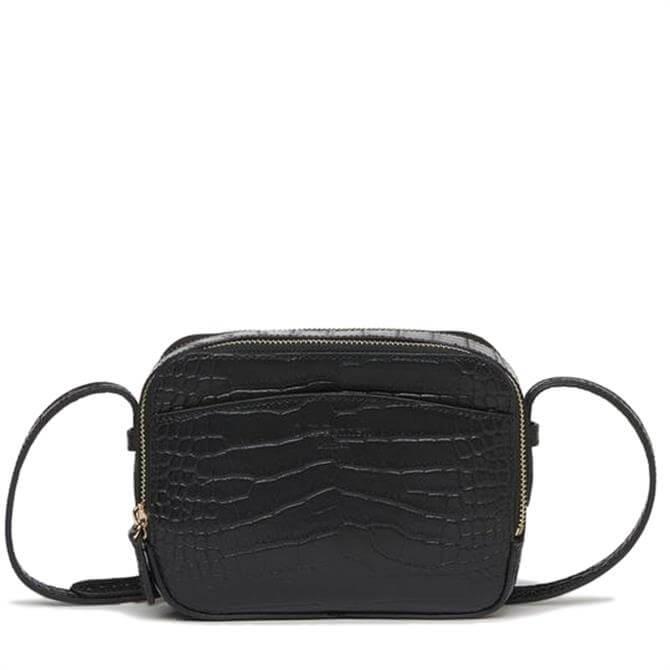 L.K. Bennett Mariel Croc Effect Shoulder Bag