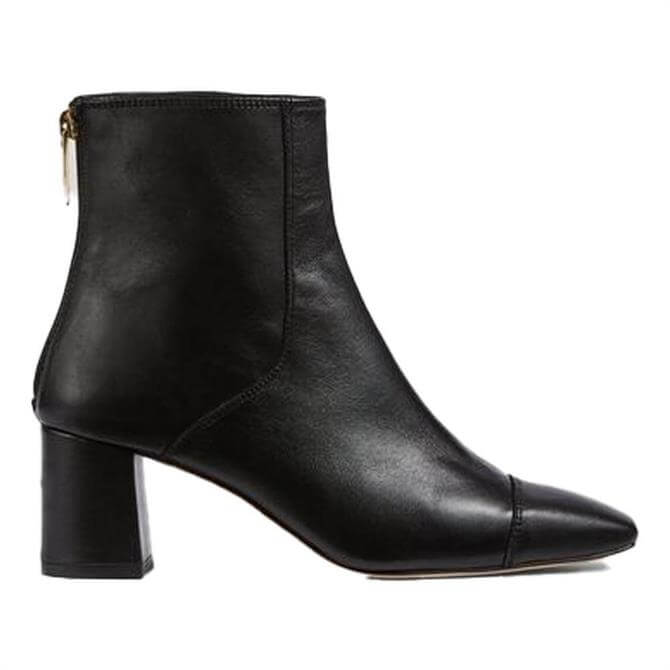 L.K. Bennett Maxine Leather Stitch Detail Ankle Boots