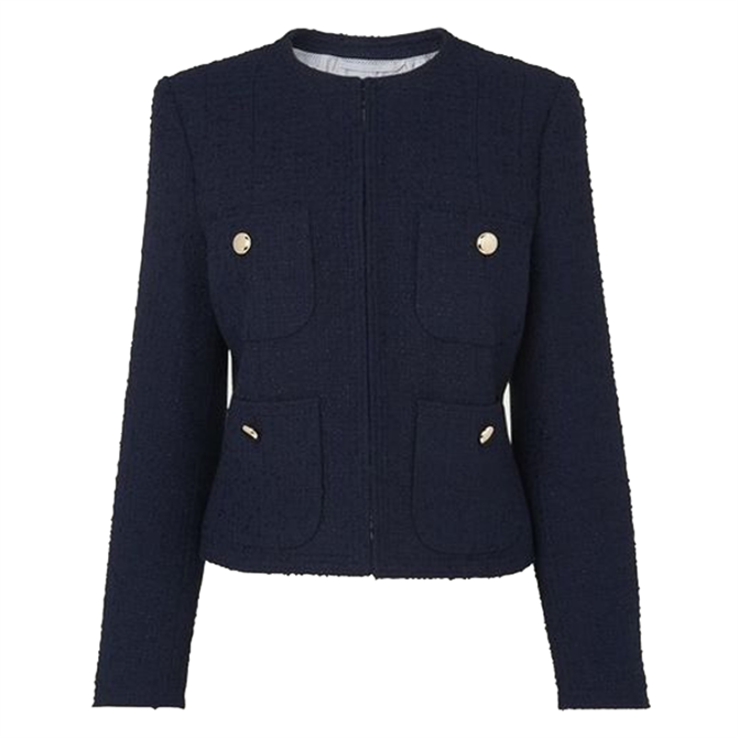 L.K. Bennett Highbury Navy Tweed Jacket