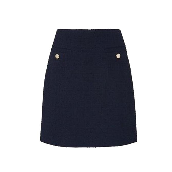 L.K. Bennett Highbury Navy Tweed Skirt