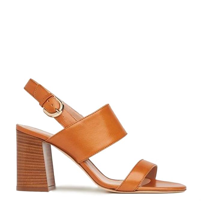 L.K. Bennett Nicolette Tan Leather Sandals