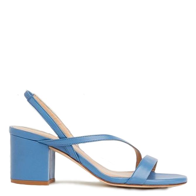 L.K. Bennett Nine Asymmetric Block Heel Sandals
