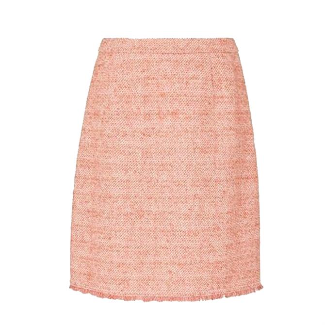 L.K. Bennett Celeste Pink Tweed Mini Skirt