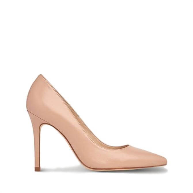 L.K. Bennet Fern Nude Leather Pointed Toe Courts
