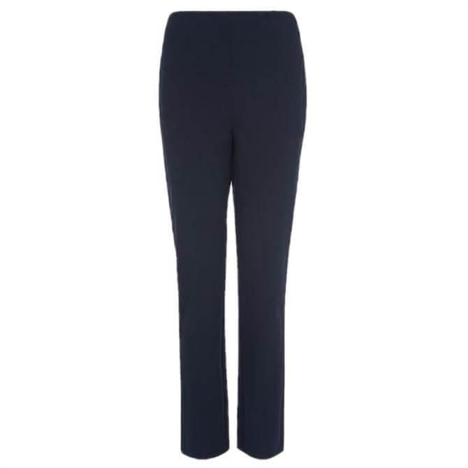 L.K. Bennett Eden Navy Skinny Stretch Trousers