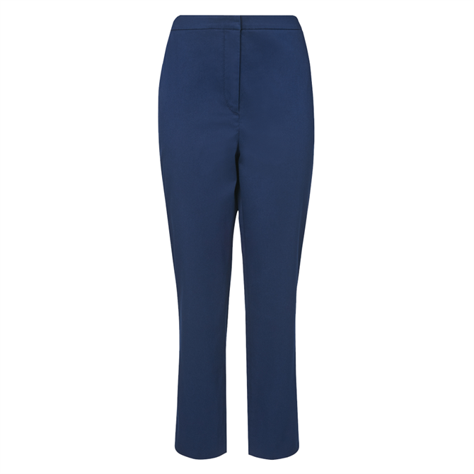 L.K. Bennett Sussex Navy Cotton Cropped Trousers