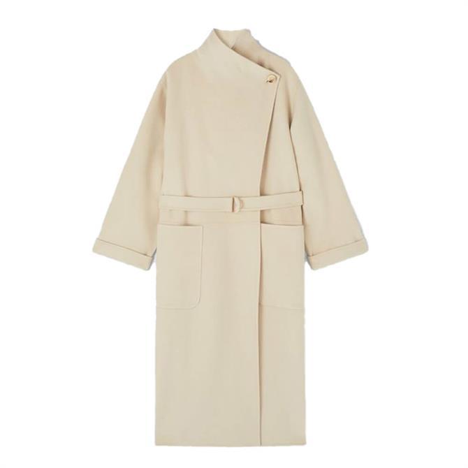 L.K. Bennett Florentin Cream Wool Mix Coat