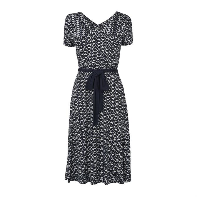L.K. Bennett Zoe Crescent Print Jersey Dress