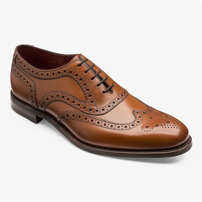 Loake Kerridge Brown Oxford Brogue Shoe