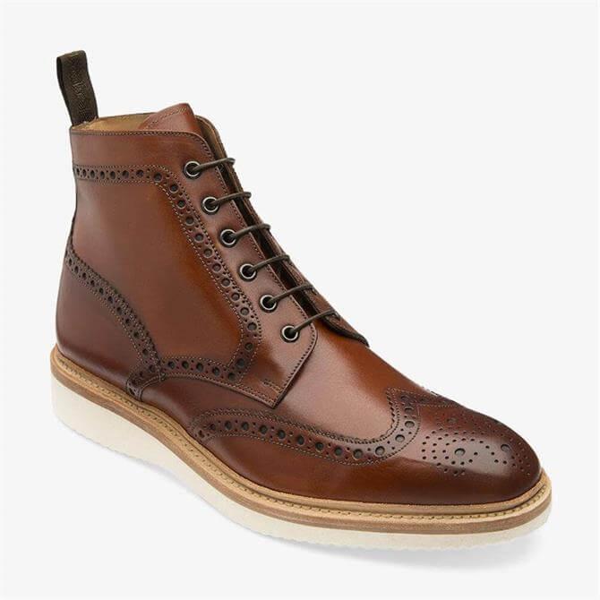 Loake Mamba Borwn Leather Brogue Derby Boot