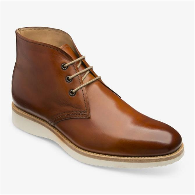Loake Python Chestnut Brown Leather Chukka Boots