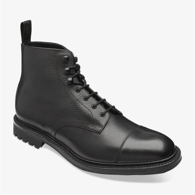 Loake Sedbergh Black Leather Derby Boots