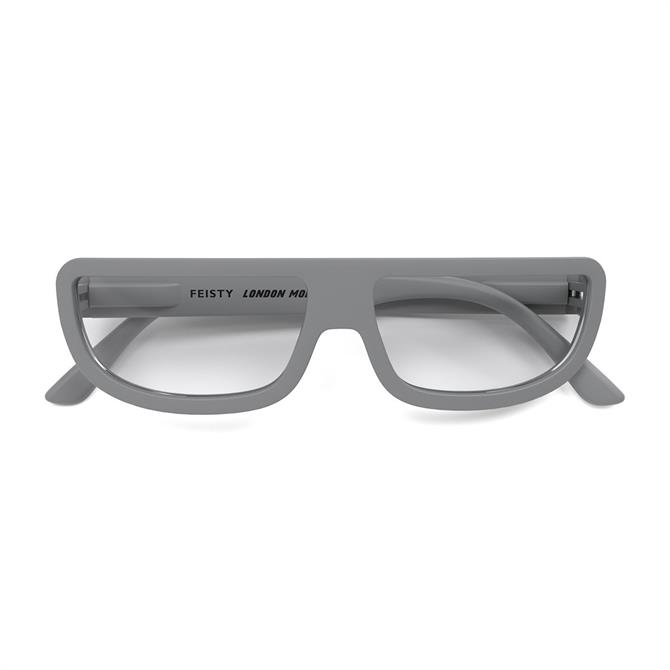 London Mole Feisty grey Reading Glasses