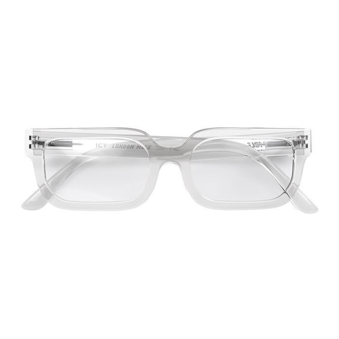 London Mole Icy Transparent Reading Glasses