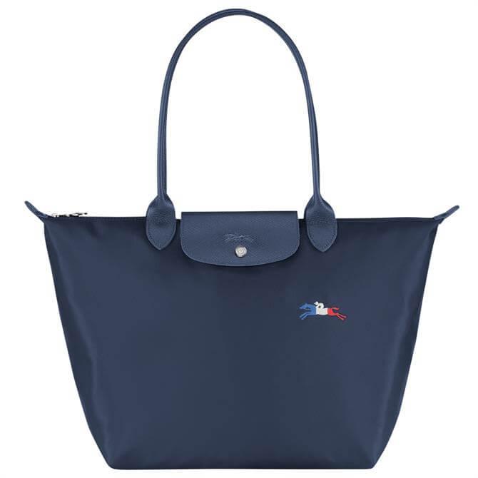 Longchamp Le Pliage Collection Navy Shoulder Bag L