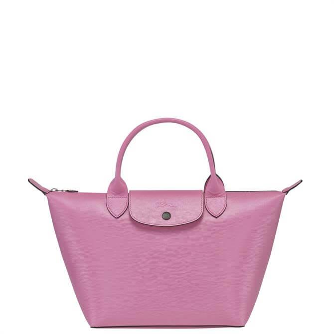 Longchamp Le Pliage Cuir Peony Top Handle Bag S
