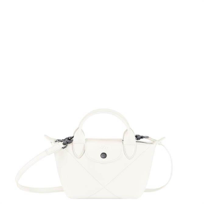 Longchamp Le Pliage Cuir Top Handle Bag XS