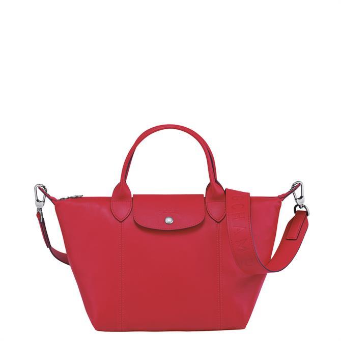 Longchamp Le Pliage Cuir Top Handle Bag S