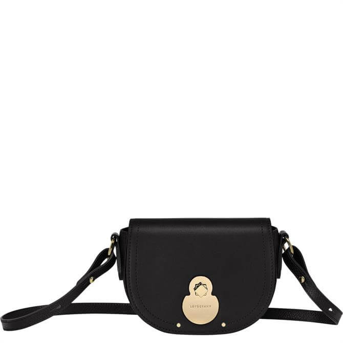 Longchamp Cavalcade Black Crossbody Bag S