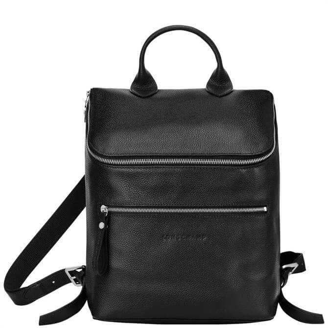 Longchamp Le Foulonné Black Backpack