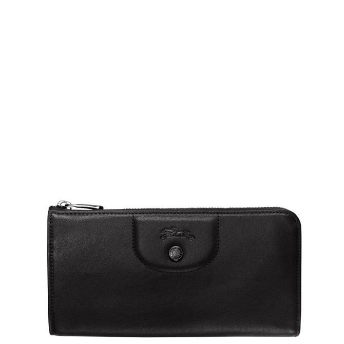 Longchamp Le Pliage Cuir Long Zip Around Wallet