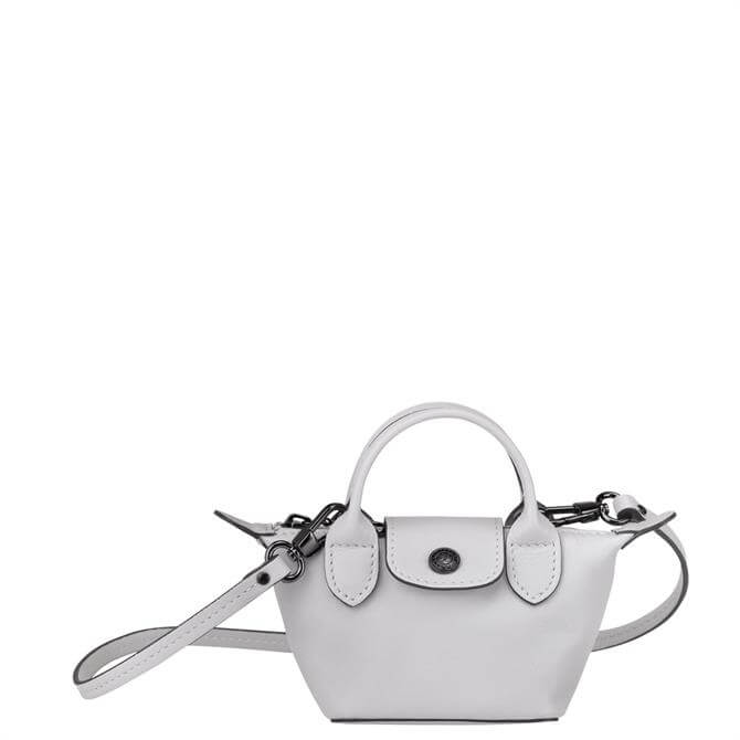 Longchamp Le Pliage Cuir Grey Crossbody Bag XS