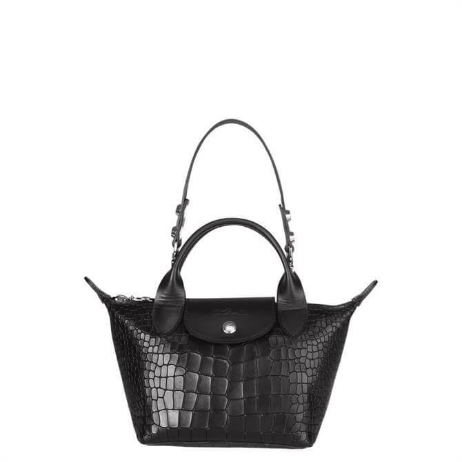 Longchamp Le Pliage Cuir Croco Top Handle Bag XS