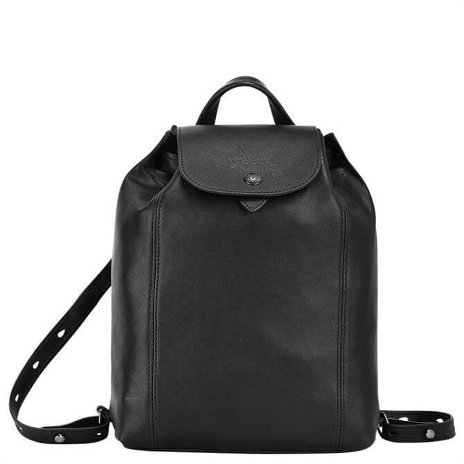 Longchamp Le Pliage Cuir Black Backpack