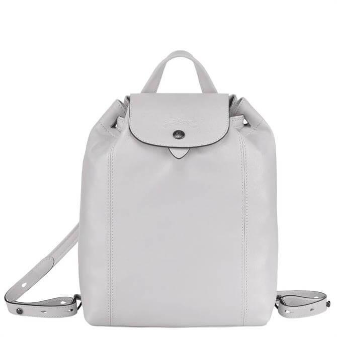 Longchamp Le Pliage Cuir Grey Backpack