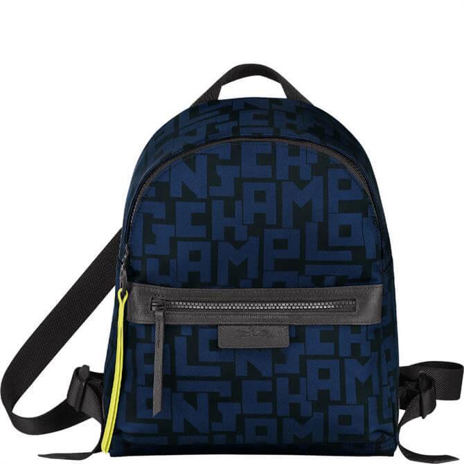 Longchamp Le Pliage LGP Black/Navy Backpack S