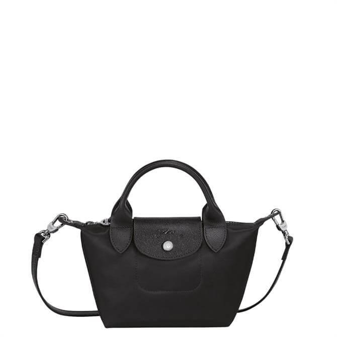 Longchamp Le Pliage Néo Black Top Handle Bag XS