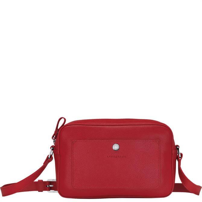 Longchamp Foulonné Red Crossbody Bag