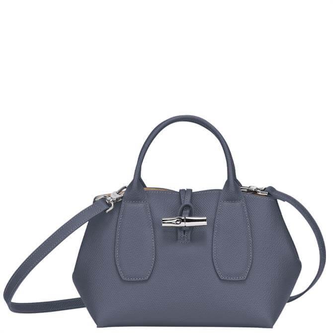 Longchamp Roseau Pilot Blue Top Handle Bag S