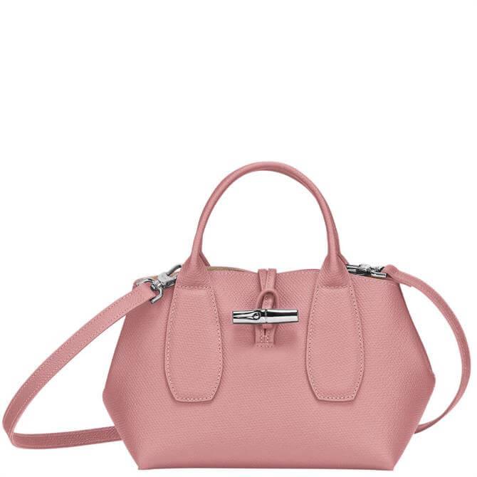 Longchamp Roseau Antique Pink Top Handle Bag S