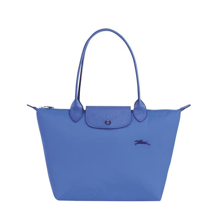 Longchamp Le Pliage Club Blue Shoulder Bag S