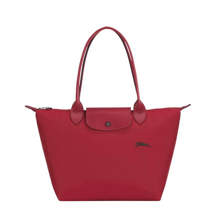 Longchamp Le Pliage Club Red Shoulder Bag S