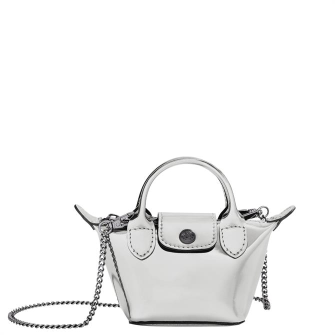 Longchamp Le Pliage Printemps/Été 2021 Silver Crossbody Bag XS