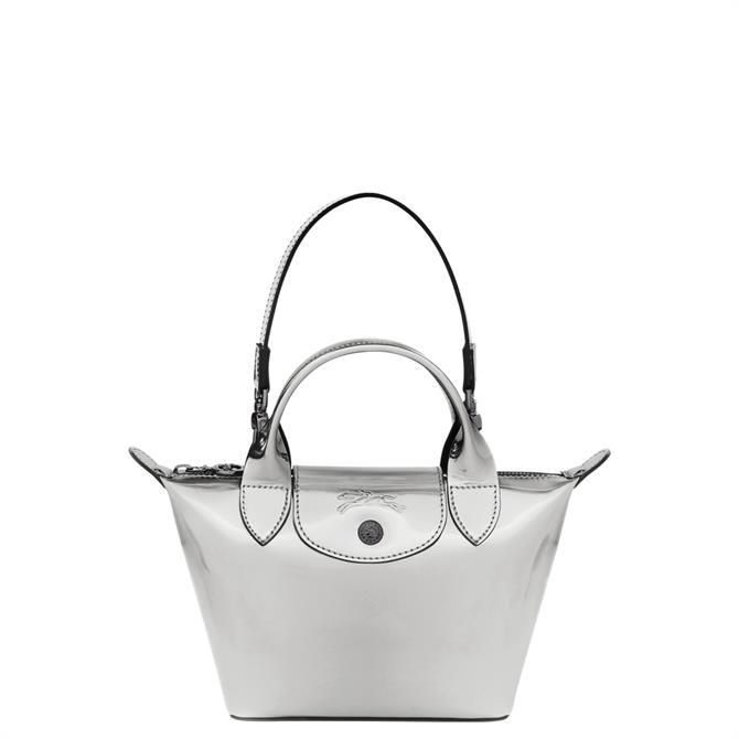 Longchamp Le Pliage Printemps/Été 2021 Silver Top Handle Bag XS