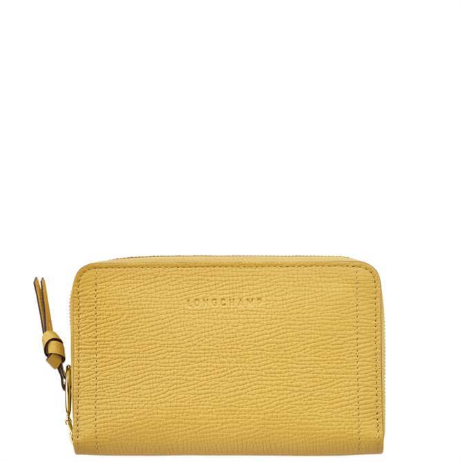 Longchamp Mailbox Yellow Compact Wallet