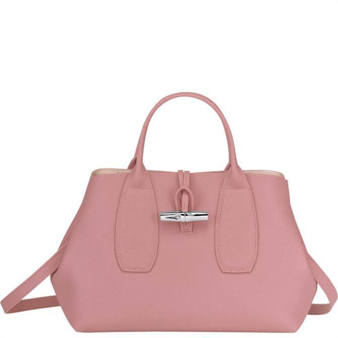 Longchamp Roseau Pink Top Handle Bag M