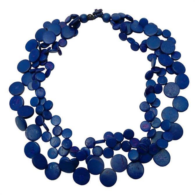 Lotusfeet 3 Strand Beaded Cascade Necklace